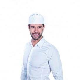 Calot Cuisinier Filet Coton Blanc (25 unités)