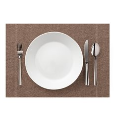 "Set de Table ""Day Drap"" Marron Clair 32x45cm (72 Utés)"