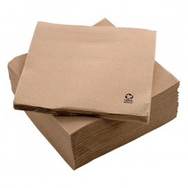 "Papieren servet Eco ""Recycled"" 20x20cm 2C P-P (100 stuks)"