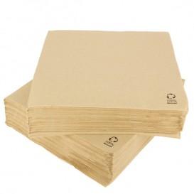 Papieren servet kraft 2C 33x33cm (50 stuks)