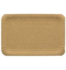 Plat rectangulaire en Carton Kraft 12x19 cm (1400 Unités)