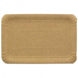 Plat rectangulaire en Carton Kraft 14x21 cm (100 Unités)