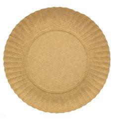Assiette en Carton Ronde Kraft 180 mm (700 Unités)
