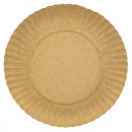 Papieren bord Rond vormig kraft 25cm 255g/m2 (100 stuks)