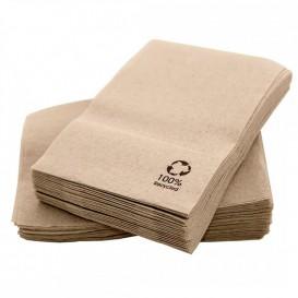 Papieren servet miniservis Eco kraft 17x17cm (200 stuks)