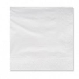 Papieren servet 3 laags witte randen 20x20 (4.800 stuks)