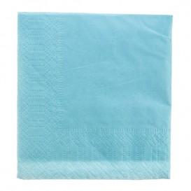 Papieren servet lichtblauwe rand 20x20 2C (6000 stuks)