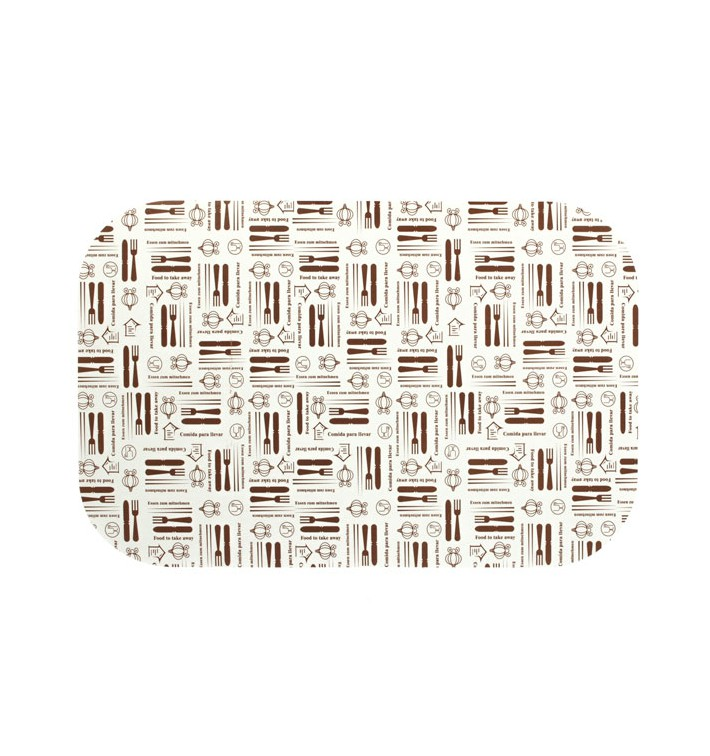 Couvercle Carton Barquette Aluminium 1500ml (500 Unités)
