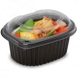 Plastic PP Container Rechthoekige vorm 450ml 14,2x11,1x6cm (80 stuks)