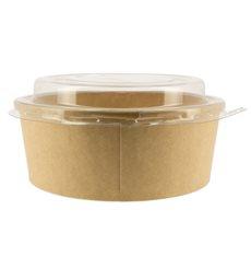 Pot en Carton Kraft-Kraft avec couvecle RPET 19 Oz/550 ml (300 Utés)