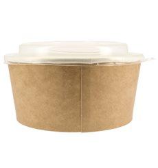 Pot en Carton Kraft avec couvecle PP 25 Oz/750 ml (300 Utés)