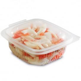 Plastic Container Microwave PP transparant 375ml 12,3x11,4cm (50 stuks)