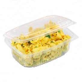 Plastic Container Microwave PP transparant 1800ml 19,0x18,5cm (300 stuks)