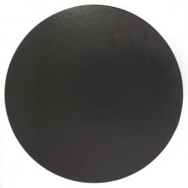 Papieren Cake cirkel zwart 24cm (100 stuks)