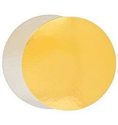 Disque Carton Face Doré et Argenté 220 mm (100 Utés)