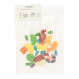 Plastic zak autosluiting met zak 18x22,5+20cm G-200 (1000 stuks)