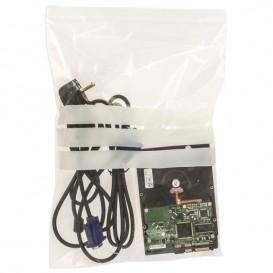 Sac en PE Fermeture zip à bandes blanches 25x35cm G160 (1000 Utés)