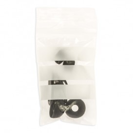 Plastic zak met rits drukknoopsluiting 7x10cm G-200 (1000 stuks)