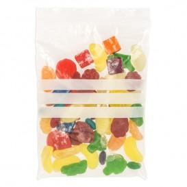 Plastic zak met rits drukknoopsluiting 16x22cm G-200 (100 stuks)