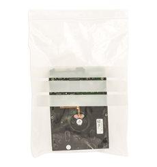 Sac en PE Fermeture zip à bandes blanches 18x25cm G200 (100 Utés)