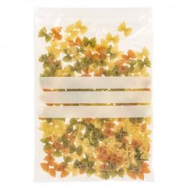 Plastic zak met rits drukknoopsluiting 25x35cm G-200 (100 stuks)