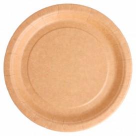 Assiette en Papier Biocoated Naturel Ø18cm (20 Utés)
