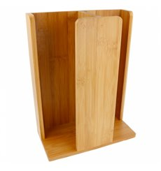 Organisateur Gobelet, Couvercle Bambou 23x12x30cm (1 Uté)