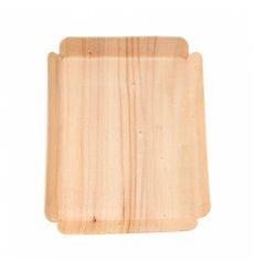 Barquette en Bois Rectangulaire 15x11,5x1,5 cm (200 Utés)