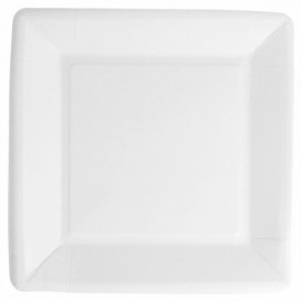 Papieren bord Biocoated wit Vierkant 18cm (400 stuks)