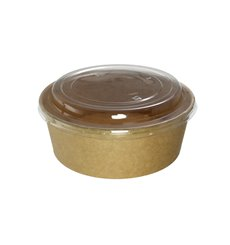 Pot en Carton Kraft-Kraft avec couvecle RPET 38 Oz/1120 ml (100 Utés)