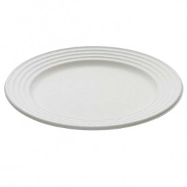 Assiette Canne à Sucre Premium Wave Blanc Ø26cm (400 Unités)