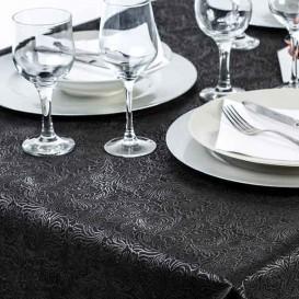 Niet geweven PLUS Tafelkleed zwart 120x120cm (150 stuks)