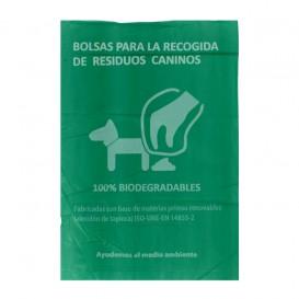 Plastic zak voor uitwerpselen van honden 100% bio 18x26cm (100 stuks)