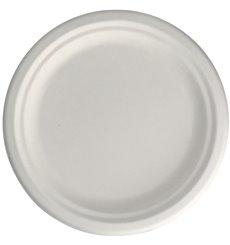 Assiette en Canne à Sucre Blanc Ø22 cm (50 Unités)