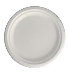 Assiette en Canne à Sucre Blanc Ø17 cm (50 Unités)