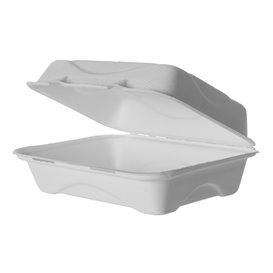 Suikerriet Gescharnierd Container wit 23x15x7,5cm (50 stuks)