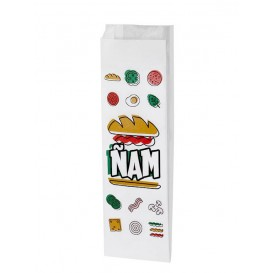 """Sac Sandwich Ingraissable """"Ñam"""" 10+4x29cm (1000 Utés)"""