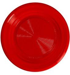 Assiette Amidon Maïs PLA Plate Rouge Ø170 mm (25 Utés)