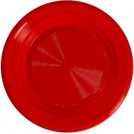 Bord PLA Plat rood Ø22 cm (25 stuks)