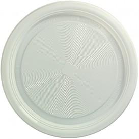 Plastic bord PLA Plat wit Ø17 cm (25 stuks)
