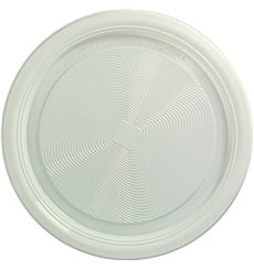 Assiette Amidon Maïs PLA Plate Blanc Ø170 mm (25 Utés)