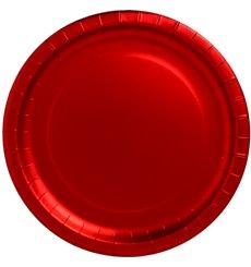 """Assiette ronde Carton """"Party"""" Rouge 330mm (3 Unités)"""