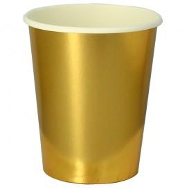 "Papieren beker goud 9Oz/240ml ""Party"" (300 stuks)"