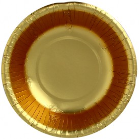 "Papieren Kom ""Party"" goud Ø16cm (90 stuks)"