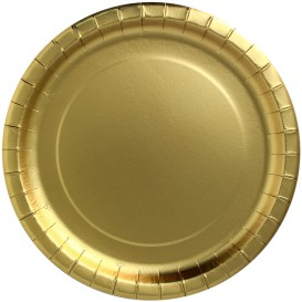 """Assiette ronde Carton """"Party Shiny"""" Or Ø230mm (300 Unités)"""