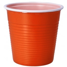 Gobelet Plastique PS Bicolore Orange 230ml (30 Unités)