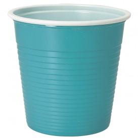 Gobelet Plastique PS Bicolore Bleu Clair 230ml (690 Unités)