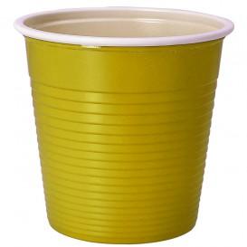 Gobelet Plastique PS Bicolore Jaune 230ml (690 Unités)