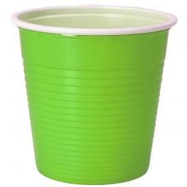 Gobelet Plastique PS Bicolore Vert Citron 230ml (30 Unités)