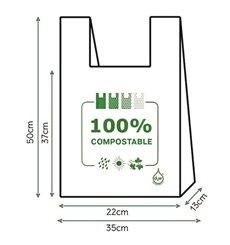 Sac à Bretelles 100% Compostable 35x50cm (100 Utés)